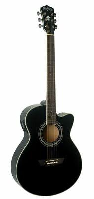 Washburn EA12B-A Festive Series Mini Jumbo Cutaway Acoustic Electric Guitar