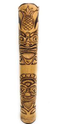 Love & Prosperity Tiger Bamboo Tiki Totem Pole 36