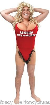 Mens Female Lifeguard Stag Do Festival Fun Halloween Fancy Dress Costume Outfit