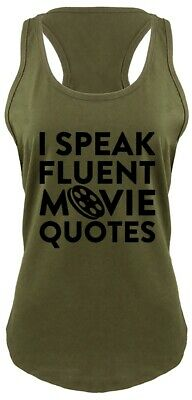 - I Speak Movie Quotes Funny Ladies Tank Top Movie Lover TV Show Nerd Gift Tank Z6