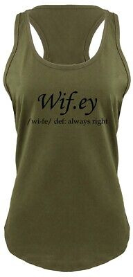 Wifey Always Right Funny Ladies Tank Top Wife Valentines Day Gift Racerback Z6 (Valentine Tops)