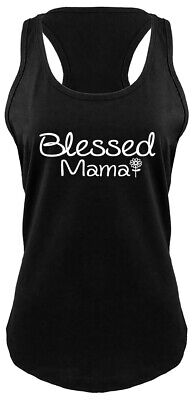 Blessed Mama Ladies Tank Top Mom Mothers Day Wife Gift Racerback Tank Z6 - Blessed Day