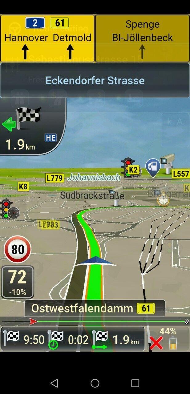 PKW, LKW, Wohnmobil, IGo Europa 2020 Navigationssoftware für Android
