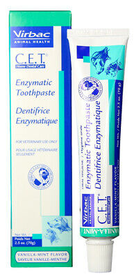 CET Enzymatic Toothpaste for Pets Cats and Dogs Vanilla/Mint Flavor 70 gm Gel Vanilla Toothpaste