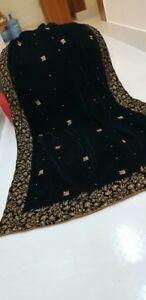 Velvet Shawl Winter Designer Embroidered Collection 2018 Pakistani Heavy Shawls