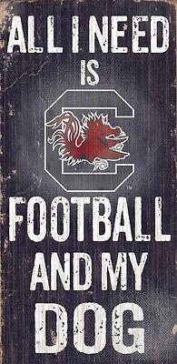 South Carolina Gamecocks Football and Dog Wood Sign [NEW] NCAA Man Cave Den Wall