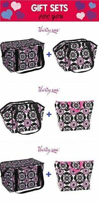 Gift Set Thirty one Lunch Break Fresh Market Thermal tote picnic bag 31 Pink Pop