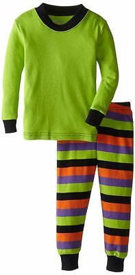 Girls Holiday Pajamas (Sara's Prints Baby Girls' Holiday Long John Pajamas, Halloween Stripe, 12)
