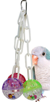 1467 Ball Clanger Bird Toy Parrot Cage Craft Toys Cages Cockatiel Parrotlet