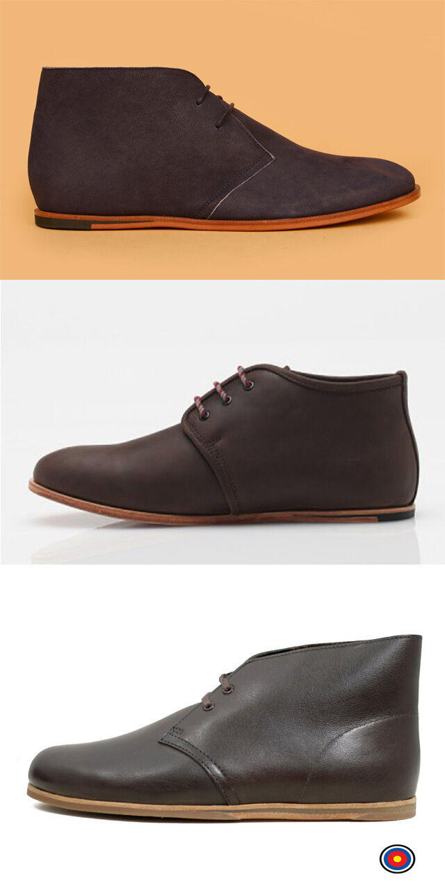 Clarks Originals Men DESERT DRIFT BOOTS Black Leather UK 6,7,7.5 G