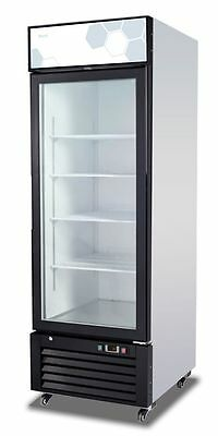 Migali C-23rm Upright Reach In One 1 Hinged Glass Door Cooler - Warranty