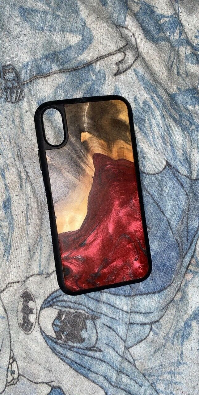 Carved Custom Wooden Iphone Xr Case. Great Condition - $6.00