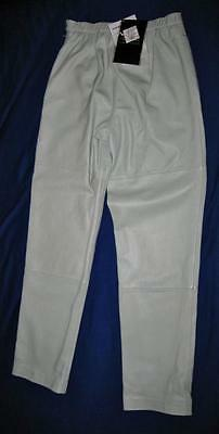 Terry Lewis Light Green Leather Pants, Women's Size 6, With Tags, Classic