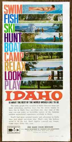1968 Idaho Tourism PRINT AD Idaho is What the Rest of the World Would Like to Be