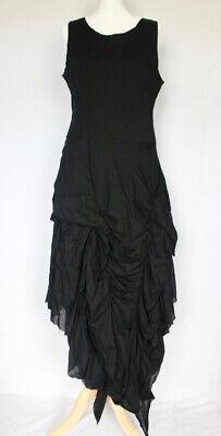 IVAN GRUNDAHL (Copenhagen) Black Cotton Party Dress (French size 42) UK SIZE 14
