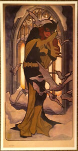 Adam Hughes LE #45/100 Made! SIGNED 2017 SDCC Art Print Batman DC Comics Batgirl