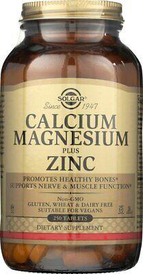 Solgar Calcium Magnesium Plus Zinc 250 Tablets (Plus 250 Tablets)