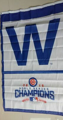 Chicago Cubs 2016 world series Champions vertical Flag Banner 3X5Ft US Shipper Chicago Cubs Vertical Flag