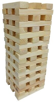 60 BLOCKS GIANT 1.2M WOODEN TOWER INDOORS OUTDOORS GARDEN JENGA PARTY GAME