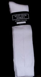 NEW WOMENS WEST 25TH STREET 3 PAIR  WHITE COTTON KNEE HIGH SOCKS SIZE 9-11