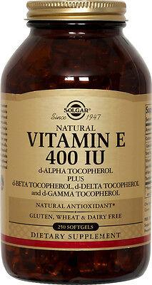Solgar Vitamin E 400 IU & Mixed Tocopherols 250 Softgels