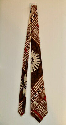 1960s – 70s Men's Ties | Skinny Ties, Slim Ties Vintage 1960s Kanaka Neck Tie Hawaii Tiki Tapa Bark Cloth Design $19.95 AT vintagedancer.com