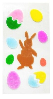 Happy Easter Spring Bunny Eggs Window Gel Sticker Cling Decorations classroom  - Spring Classroom Decorations