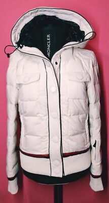 MONCLER Grenoble Trysil Authentic White Quilted Down Puffer Womens Hooded Jacket