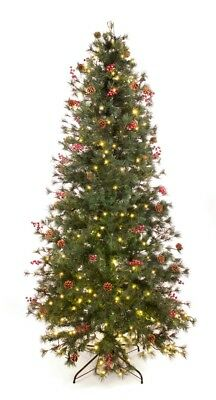 Best Artificial 7.5ft / 225cm Pre Lit Deluxe Decorated Christmas Tree Xmas (7-5 Ft Pre Lit Artificial Christmas Trees)