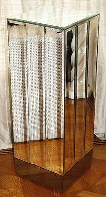 Vintage Beveled Mirror Pedestal. Hollywood Regency Mid Century Modern RARE