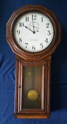 Seth Thomas Antique Regulator Clock, train depot, B&O Railroad, Ball Watch Co.