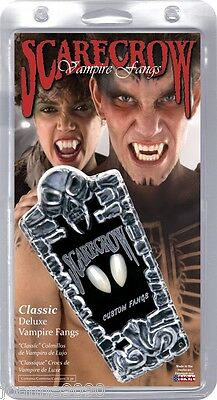 SCARECROW VAMPIRE VAMPIRESS FANGS HALLOWEEN TEETH ADULT DELUXE DRACULA SCARY