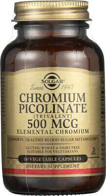 500 Mcg Vegetable Capsules (Solgar Chromium Picolinate 500mcg 60 Vegetable Capsules )