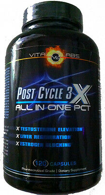 Post Cycle 3X by Vital Labs, 120 Capsules, FREE SHIPPING