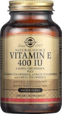 Solgar Vitamin E 400 IU 100 Softgels Mixed Tocopherols