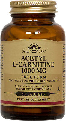 Solgar Acetyl L-Carnitine 1000mg 30 (Solgar Acetyl L Carnitine 1000 Mg 30 Tablets)