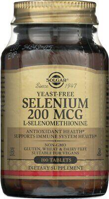 Solgar Yeast-Free Selenium 200mcg 100 Tablets