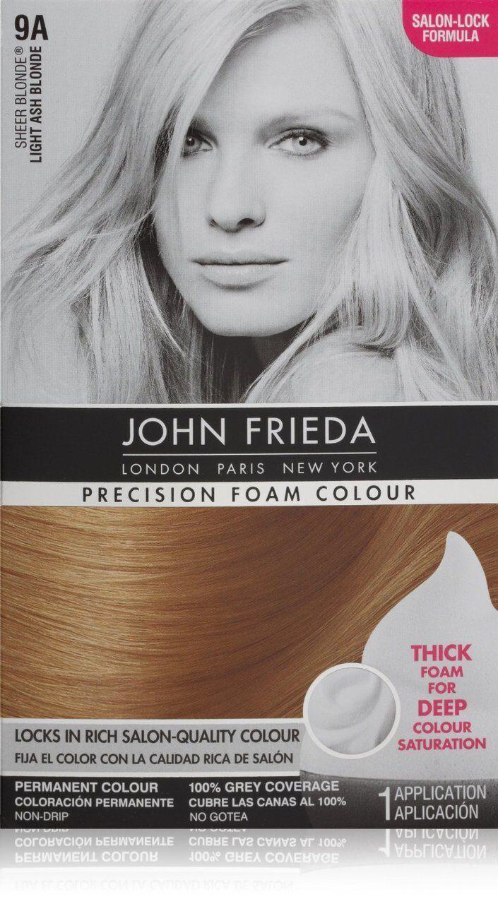 John Frieda Precision Foam Colour Light Ash Blonde 9a Ebay