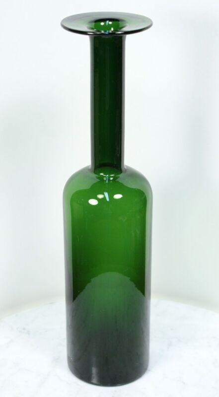 """Tall Vintage Modern HOLMEGAARD Bottle Vase. """"Gulvvase"""" by Otto Brauer. RARE"""