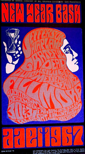 JEFFERSON AIRPLANE + GRATEFUL DEAD-  PSYCHEDELIC NEW YEARS - 2ND PRINTING SCARCE