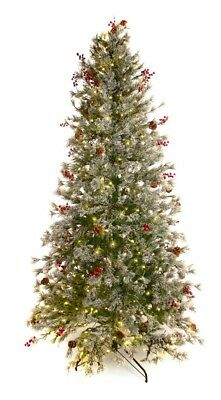 Best Artificial 7.5ft / 225cm Pre Lit Frosted Deluxe Decorated Christmas (7-5 Ft Pre Lit Artificial Christmas Trees)