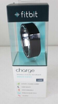 Fitbit FB404BKL Charge Wireless Activity Wristband Black Large New Free Shipping