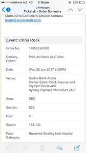 Two Chris rock tickets Bankstown Bankstown Area Preview