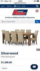9 piece dining set. LIKE NEW Hunters Hill Hunters Hill Area Preview
