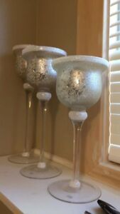 3 decorative candle holders