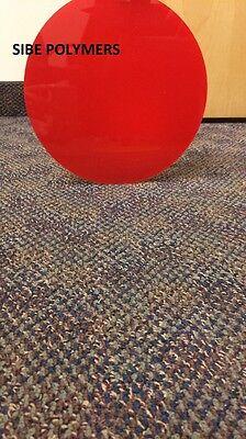 Translucent Red Acrylic Plexiglass 18 Plastic Circle Disc 6 Diameter