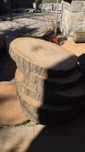 Wood Round / Coffee table size (23inch diameter, 3inch thick)
