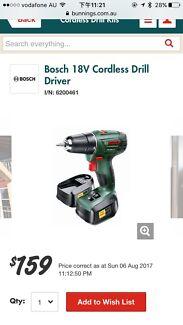 Bosch 18V Cordless Drill Driver