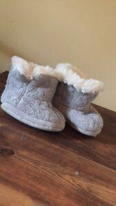 grey warm shoes