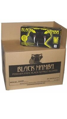 Black Mamba Disposal Nitrile Gloves 100 Per Box Large Blk 120 Mechanic Gloves